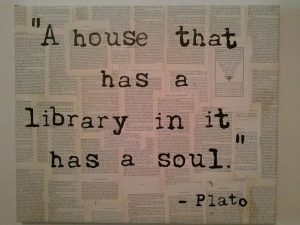 plato library and soul 300x225 About Sharon